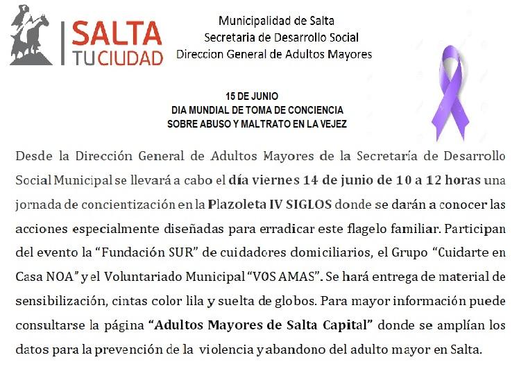 Día Mundial de Abuso y Maltrato en la Vejez