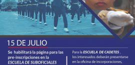 Hasta el 31 de octubre son las inscripciones para el Escuela de Cadetes de la Policía Provincial