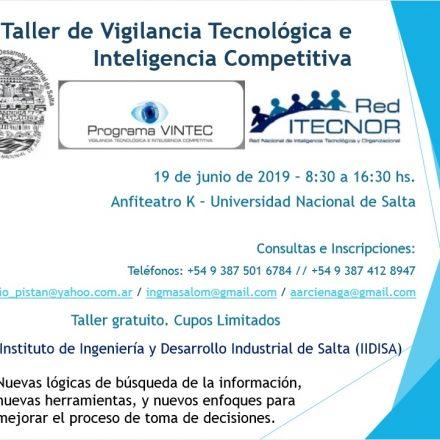En la UNSa, Taller de  Vigilancia Tecnológica e Inteligencia Competitiva