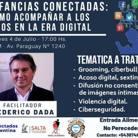 """Llega a Salta la charla """"Infancias conectadas: cómo acompañar a los hijos en la era digital"""""""