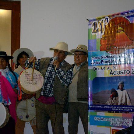 Presentaron la Fiesta Nacional de la Pachamama de los Pueblos Andinos