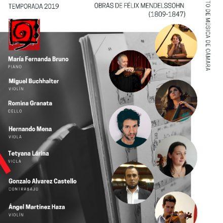 El 24 de Julio y con entrada libre, concierto de Música de Cámara – Obras de Félix Mendelsshon –