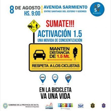 Seguridad Vial concientizará sobre la importancia del ciclista como actor vial