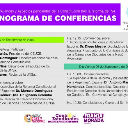 Seminario sobre «Avances y aspectos pendientes de la Constitución tras la Reforma del 94»