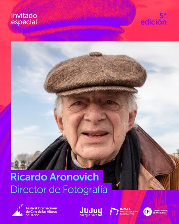 Ricardo Aronovich en el Festival Internacional  de Cine de las Alturas