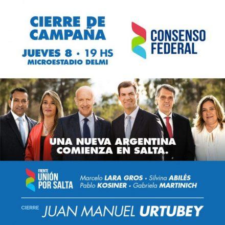 Consenso Federal cerró campaña en Buenos Aires y hoy cierra en Salta