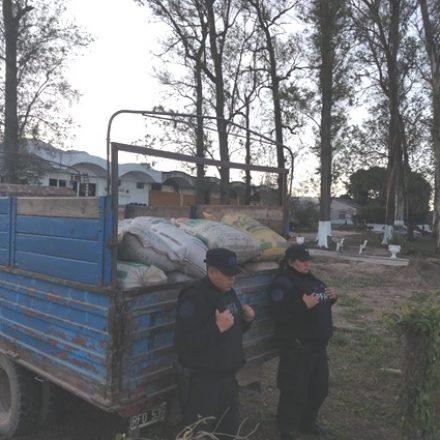 Incautan cuatro mil kilos del cereal transportados ilegalmente