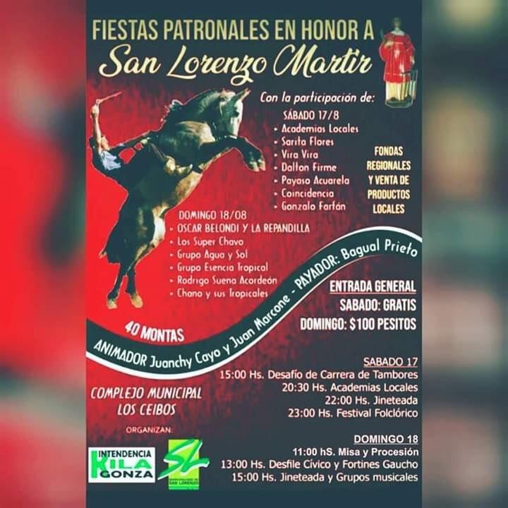 Fiestas Patronales en Honor a San Lorenzo Mártir