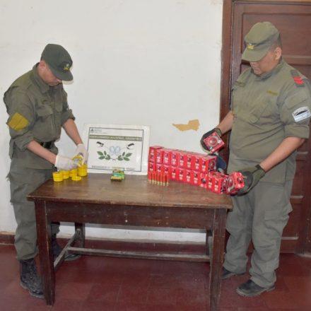 Incautan cartuchos de bala y municiones en el Puente Internacional Salvador Mazza