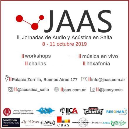 III Jornadas de Audio y Acústica en Salta 2019