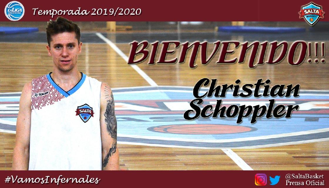 Christian Schoppler nuevo refuerzo de Los Infernales de Salta Basket