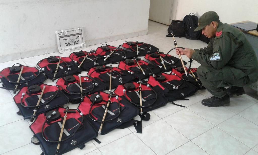 Secuestran mochilas para combatir incendios forestales que pretendían llevar a Bolivia