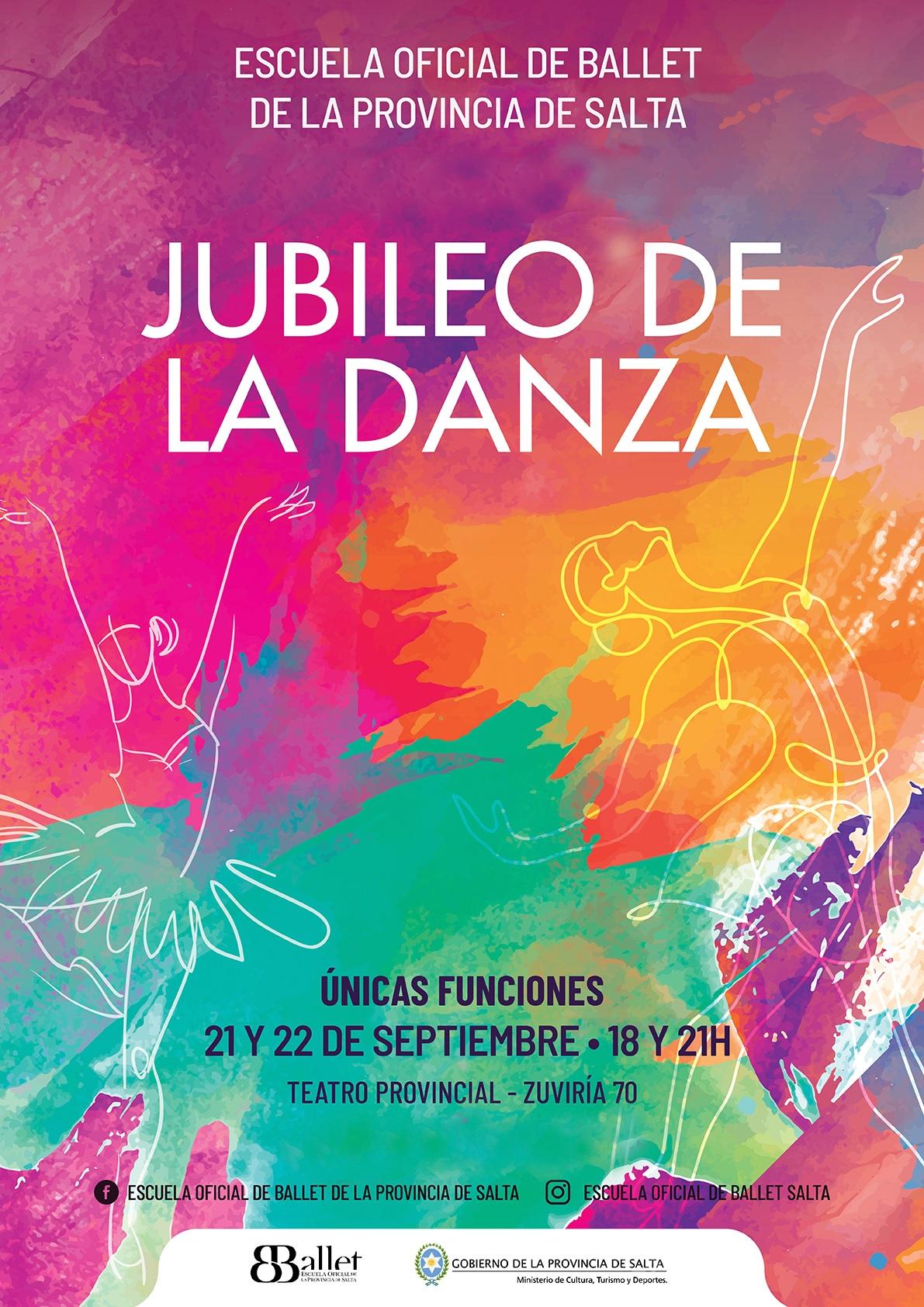Con entrada libre y gratuita la gran fiesta «JUBILEO DE LA DANZA»