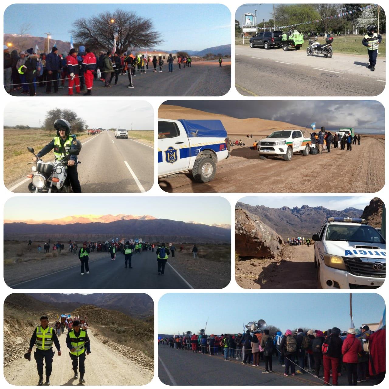 Personal Policial acompaña a delegaciones de peregrinos de toda la provincia