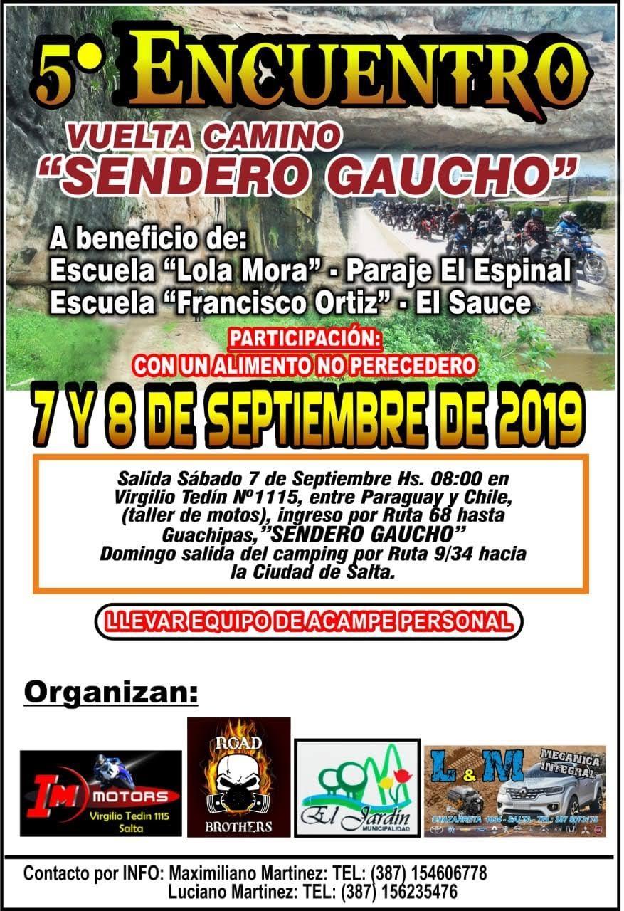 Se realizará la presentación del 5° Encuentro Vuelta Camino Sendero Gaucho