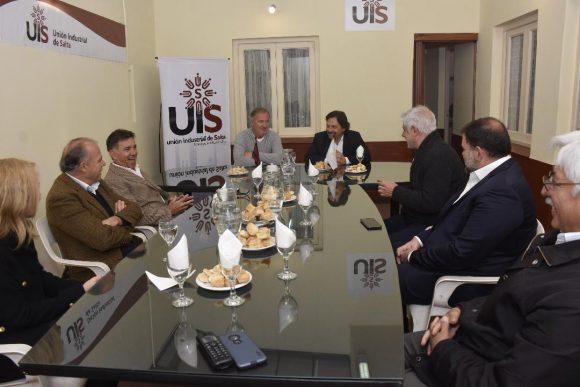 Sáenz se reunió con los miembros de la Unión Industrial de Salta