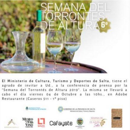Mañana se presentará la 6º edición de la Semana del Torrontés