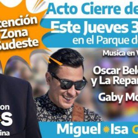 Miguel Angel Isa cierra su campaña en el parque de la Familia