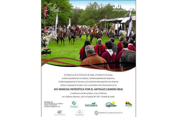 Lanzamiento de una nueva edición de la Marcha Patriótica por el Camino Real