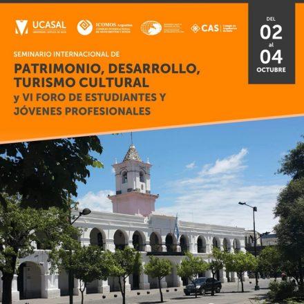 Del 2 al 4 de octubre se realizará el I Seminario Internacional de Patrimonio, Desarrollo y Turismo Cultural