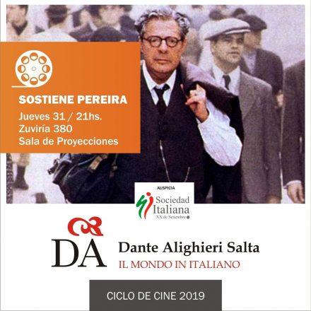 Con entrada gratuita nueva función de cine italiano: proyectarán la película Sostiene Pereira