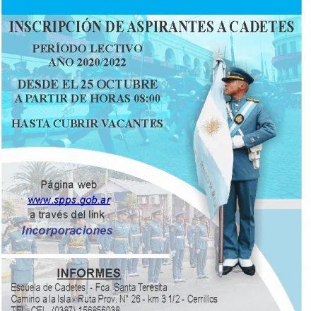 Llamado a Concurso Abierto y Público para la Incorporación  de Aspirantes a Cadetes  del Servicio Penitenciario de la Provincia de Salta – 2.020/2.022