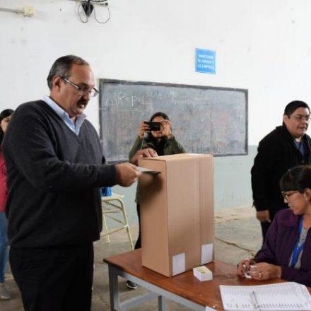 Votó Sergio Leavy en Tartagal