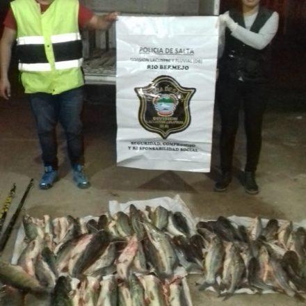 Procedimiento policial contra la pesca furtiva en el norte provincial