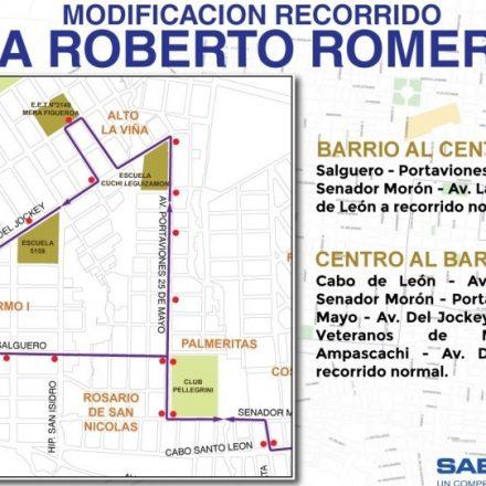 Desde hoy rige un nuevo recorrido para la línea 4A Roberto Romero