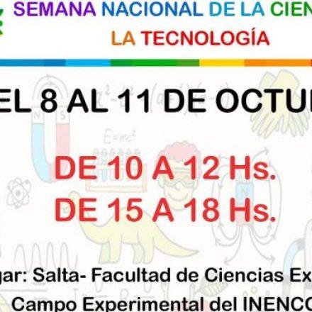Actividades por la Semana de la Ciencia y la Tecnología