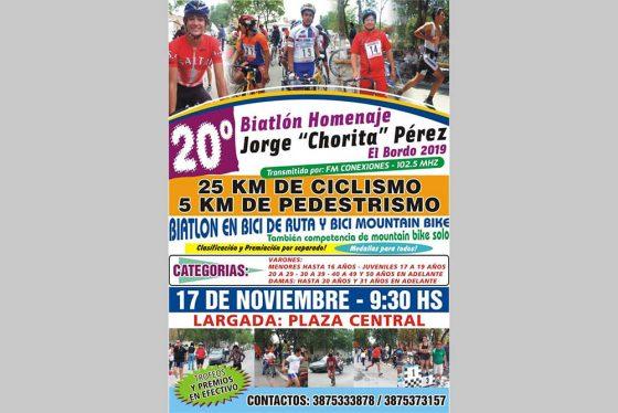 Presentaron la vigésima edición del Biatlón «Chorita Pérez»