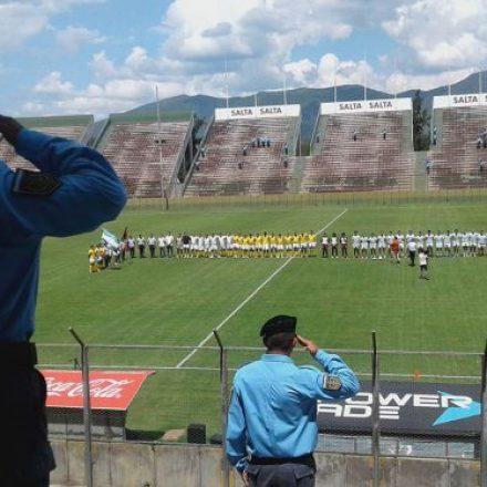 Rugby en contexto de encierro, hoy en el estadio Martearena