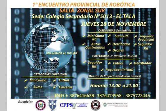 Primer Encuentro Provincial de Robótica Zona Sur y entrega de kits de robótica educativa