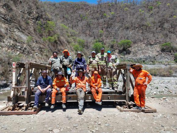 Finalizó en Los Toldos el montaje de un puente de emergencia sobre el río Bermejo