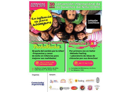 """Jornadas """"La infancia es para siempre"""" por los 30 Años de la Convención de los Derechos del Niño"""