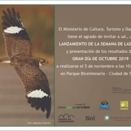 Mañana se realizará el lanzamiento de la Semana de las Aves