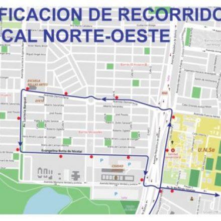 Modifican el recorrido del corredor Troncal Oeste