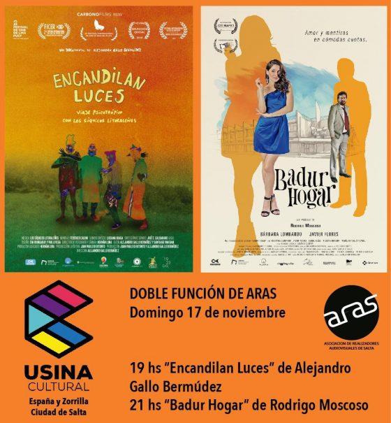 Doble función de cine local en la Usina Cultural este domingo