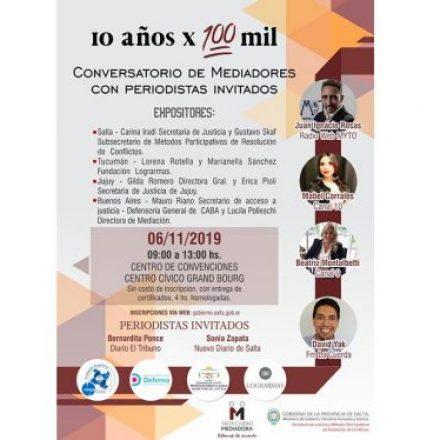 Conversatorio sobre mediación con especialistas de Buenos Aires, Tucumán y Jujuy
