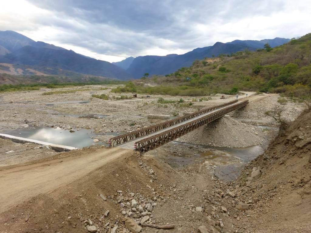 Refuerzan y optimizan el estado del puente Bailey de Los Toldos