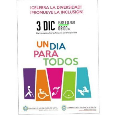 """Deportes participará en la jornada inclusiva """"Un Día Para Todos"""""""