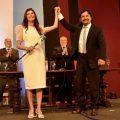 Gustavo Sáenz participó en la asunción de la intendenta capitalina Bettina Romero