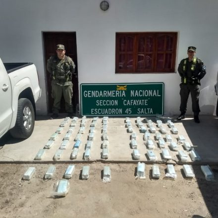 Transportaban 79 kilos de cocaína dentro del tanque de combustible de dos camionetas