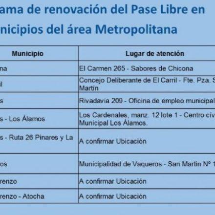 Desde el próximo miércoles Saeta visitará los municipios del área metropolitana para la renovación del Pase Libre