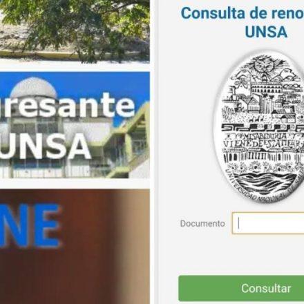 Renovación del pase libre para ingresantes a la UNSA