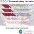 Inscripciones para percibir becas universitarias y terciarias 2020