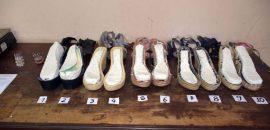 Ocultaban más de 3 kilos de cocaína en la plataforma de sus zapatos