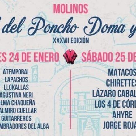 Este fin de semana se realizará en Molinos la edición N° 37 del Festival del Poncho, Doma y Folclore