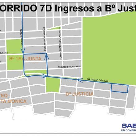Desde éste lunes SAETA extenderá el horario de cobertura de colectivos a Barrio Justicia de la Capital