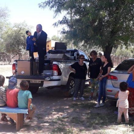 Rodolfo Aredes y el Muñeco Pepito realizaron un balance de sus actividades en la provincia